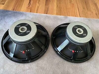 """Pair RCF L-15 542 15"""" 8 Ohm Woofers Speakers ITALY"""