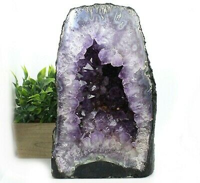 "12.5"" Tall Purple Amethyst Crystal Quartz Geode Cathedral 23.35 lb (AC250)E"