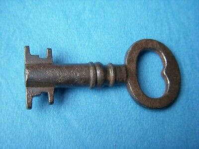 Antique Key Victorian Safe, Strongbox,Trunk ,Key. 44 Mm (A-5)
