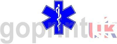 Magnet sign Star Of Life For Event First Aid Medic Ambulance 220mm SOL Magnetic