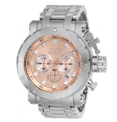 Invicta Coalition Forces 26496 Men's Rose Gold Dial Chronograph Watch 52mm
