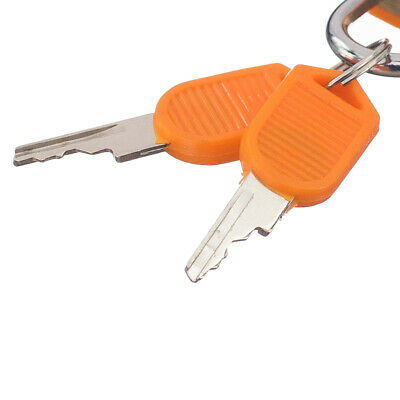 22mm Rectangle Small Padlock with Two Keys for Luggage Suitcase Bag Orange