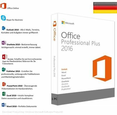 Microsoft Office 2010 Professional Plus 1 PC Produkt Key 32/64 Bit ESD Download