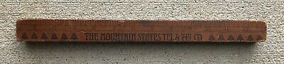 "Vintage Mountain States Telephone Telegraph Ruler Bell System 13"" Advertising"