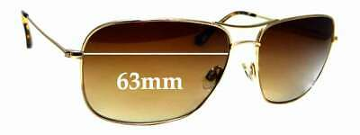 SFX Replacement Sunglass Lenses fits Maui Jim Castaway MJ187 63mm Wide