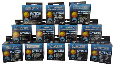 Ultra Pro Square BASEBALL DISPLAY Holder w Stand UV Protection New Cube Bundle