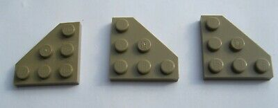 6 x lego 2450 Plate Wing Wedge Flat 3x3 Cut Corner New New Red, Red