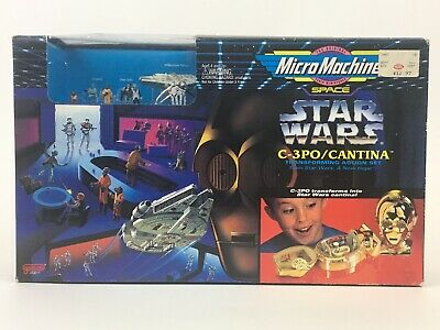 SEALED 1994 Transforming Head C-3PO Cantina Micro Machines Star Wars Action Set