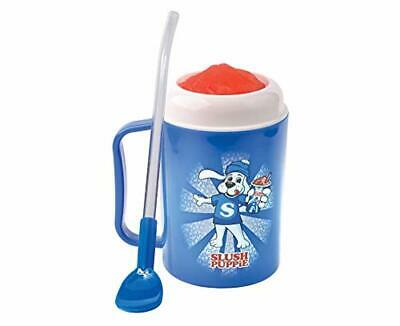 Slush Puppy Freezer Drinks Cup Spoon Straw Reusable Fun Slushie Mug **Free P&P**