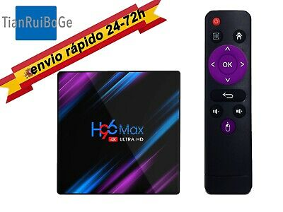 TV BOX H96 Max Android 9.0 Quad Core 4K HD 2.4G 5G WiFi BT 4.0 Media TV Caja