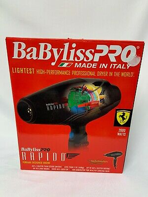 Babyliss PRO RAPIDO BF7000 Ferrari Designed Engine Hair Dryer 2000w Professional