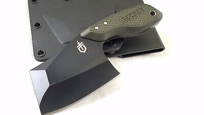 Gerber Tri-Tip Mini Cleaver Green Fixed Blade Knife 1694