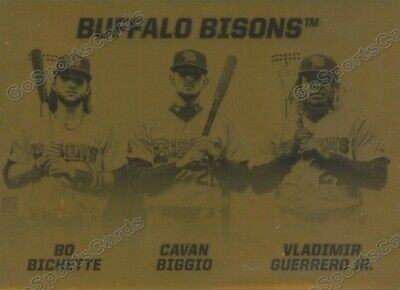 2019 Buffalo Bisons Gold Bo Bichette Cavan Biggio Vladimir Guerrero Jr RC