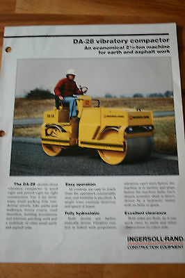 4 x INGERSOLL-RAND BROCHURES 1985-87 COMPACTOR PLATES ROLLERS UPRIGHT