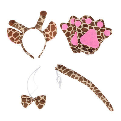 5pcs Party Costume Adorable Giraffe Cartoon Cloth Costume Kit for Easter Cosplay