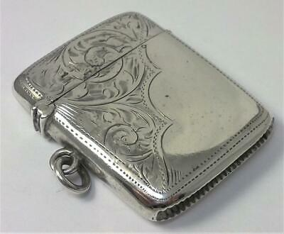 Antique hallmarked Sterling Silver Vesta Case (not inscribed) – Chester 1911