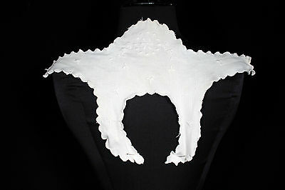 Vintage French Edwardian Hand Embroidered Cotton Collar Yoke