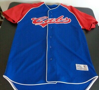07ae259e CHICAGO CUBS Baseball True Fan MEDIUM Stitched Blank Jersey MLB Free  Shipping