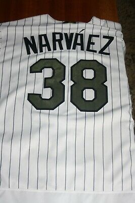 e76dd8e339e904 Chicago White Sox 2017 Game Used Memorial Day Jersey Omar Narvaez C
