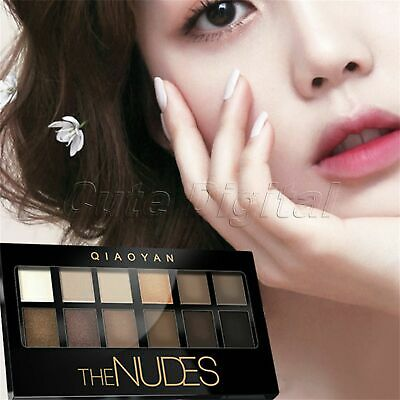Mineral Eyeshadow Palette Shimmer/Matte Pigment 12 Colors Professional Wedding