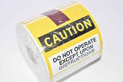 NEW, Electromark, Caution, Do Not Operate, Service Tag, 60341-D, 610005, 200/Rol