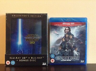 Rogue One:A Star Wars Story + Star Wars: The Force Awakens [Blu-ray 3D/2D] *NEW*