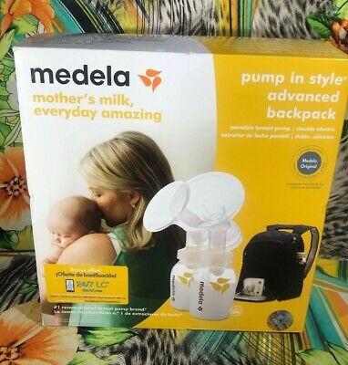 New Medela In Style Advanced Double Breast with Backpack  Portable Breast Pump