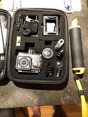 NEW Never Used APEMAN Action Camera 4K With Floating Hand Grip And 64GB SD Card