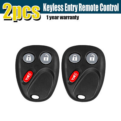 2 New Keyless Entry Remote Key Fob Replacement For GM GMC Chevy LHJ011