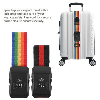 Luggage Strap Adjustable Travel Straps Travel Suitcase Belt TSA Combination Lock