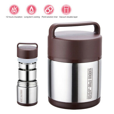 3 Layers Hot Thermal Stainless Insulated Lunch Box Picnic Camp Food Container