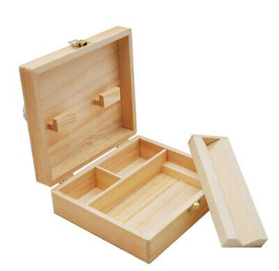 1pcs Wooden Stash Box With Rolling Tray Large Perfect To Organize  Accessories