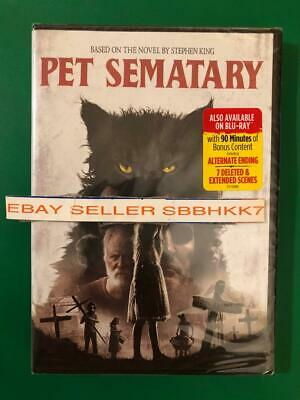PET SEMATARY DVD (2019) **AUTHENTIC READ DESCRIPTION** Brand New Free Shipping
