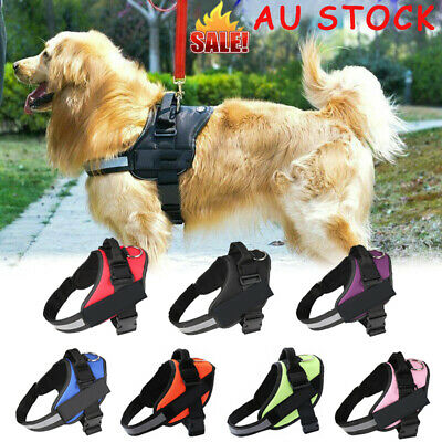 Strong Adjustable Dog Harness Reflective Soft Padded Non Pull Pet Harness Vest