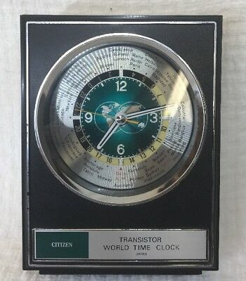 CITIZEN Transisrot World Time Clock Made In Japan Working Nice