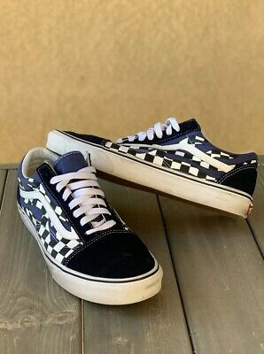 thoughts on large discount great deals VANS OLD SKOOL Classic Shoe Checker Flame Navy Blue/White ...