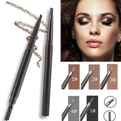 Double head Waterproof eyebrow pencil With Brush Automatic rotation Eyeliner Eye