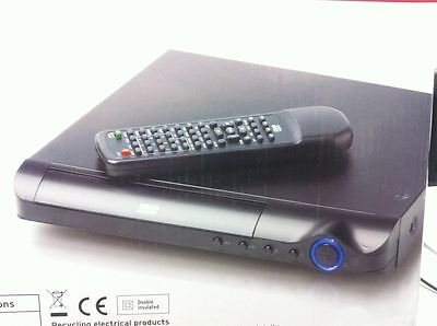Curtis Inspired 1046 Black compact slim 1080p DVD Player HDMI Region Free C75