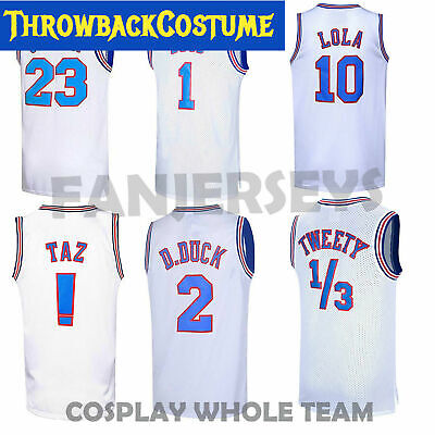 Cosplay Space Jam Tune Squad #23 Jordan Basketball Jersey S M L XL XXXL 2 Colors