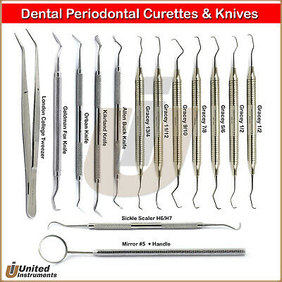 Periodontal Root Canal Gracey Curette Orban Gum Grafting Root Cavity Removal Set