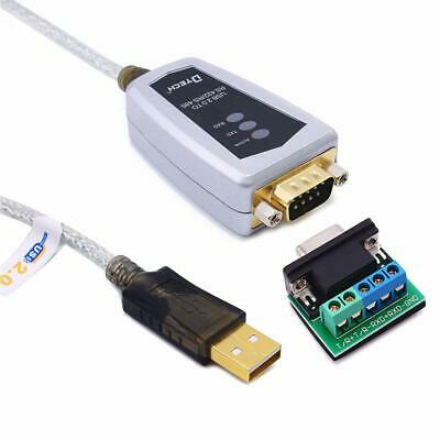 DTECH USB to RS422 RS485 Serial Converter Adapter Cord 0.5m with FTDI Win 10 Mac
