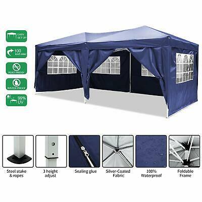 3X6M Garden Heavy Duty Pop Up Gazebo Marquee Party Tent Wedding Canopy 4 Sizes