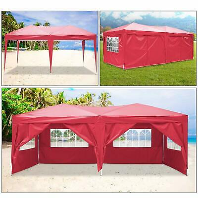 3x6m Garden Pop Up Gazebo Marquee Party Tent Wedding Canopy 6 Sides 7 Colours