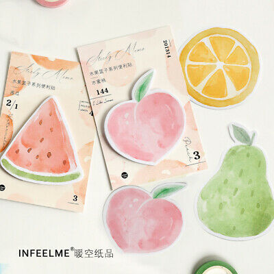 Notes Memo Notepad Bookmark Cute fruit Party watermelon Memo Pad N Times Sticky
