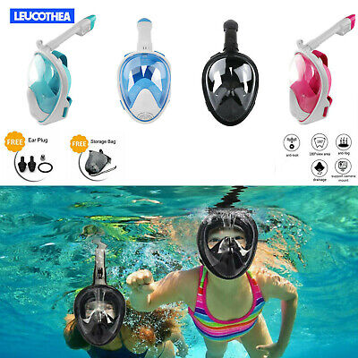 180° Full Face Curved Diving Mask Anti-Fog Snorkel Mask Diving Scuba for kids XS