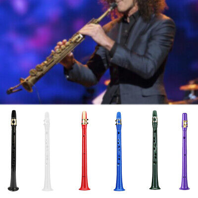 Mini Portable Pocket Saxophone Plastic Sax Woodwind Instrument with Carrying Bag