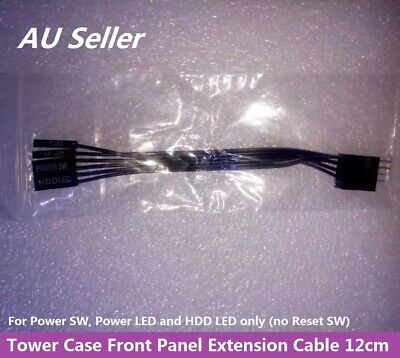 PC Case Front Panel Power LED Extendsion Cable Adapter 12cm