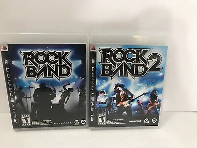 Sony Playstation 3 PS3 Rock Band And Rock Band 2 Lot Tested Working