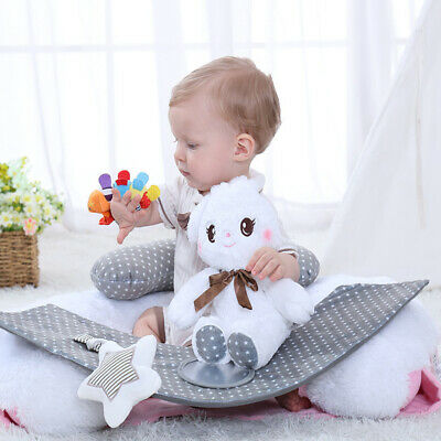 Baby Support Seat Sit Up Rabbit Chair Cushion Sofa Plush Pillow Learn Sit