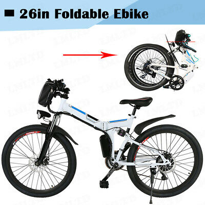 """ANCHEER Foldable Electric Bike City Mountain Cycling EBike 36V 250W 26"""" Bicycle"""